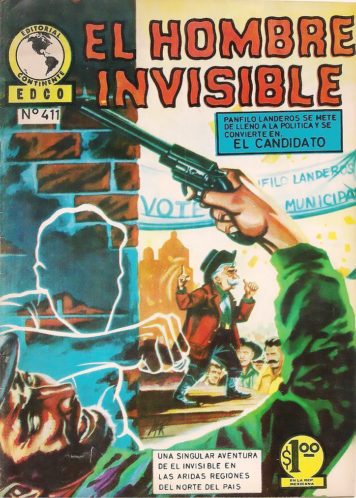 El Hombre Invisible #411 1972 Bronze Age Brn&W Comic Mexico Spanish Lang Fine  (1).jpg